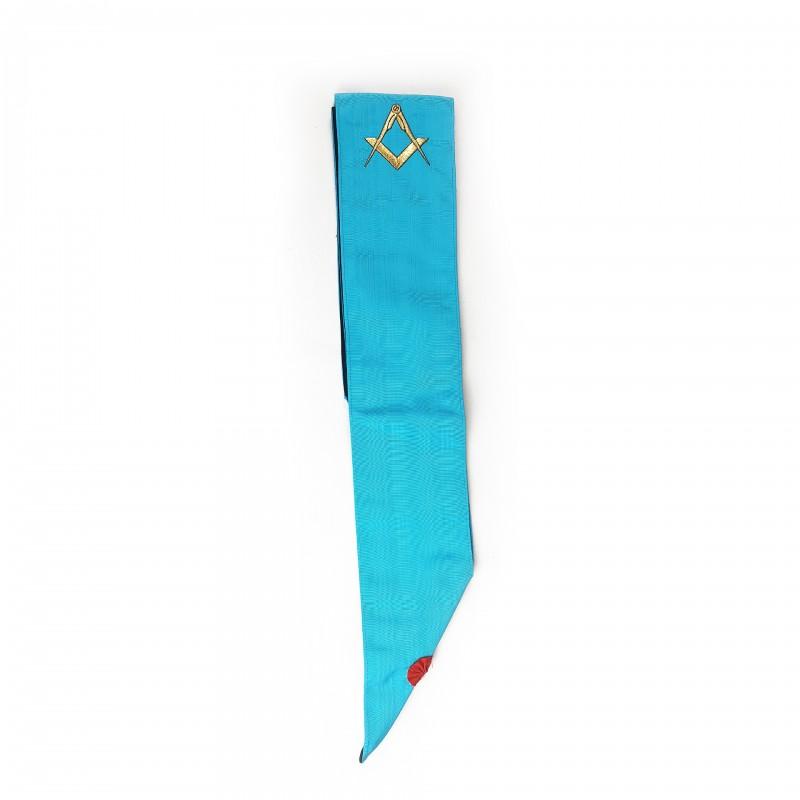 Cordon M.M. RF (turquoise), comme 1E23302, mais brodé équerre et compas