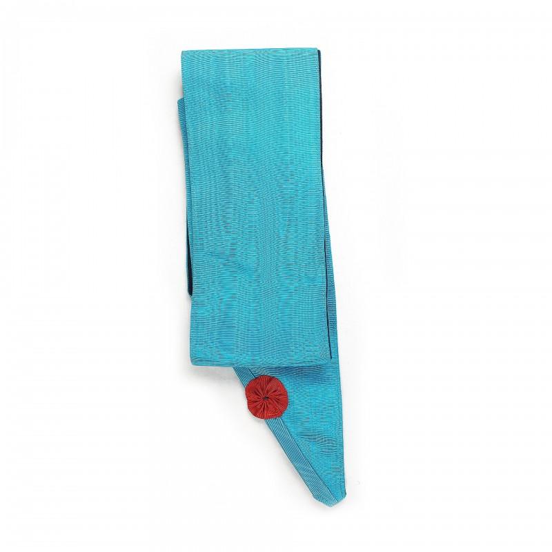 Cordon M.M. RF (turquoise), sans broderie, cocarde rouge /pointe