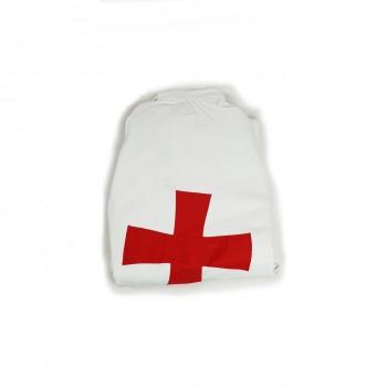 Manteau blanc GPRF, croix...