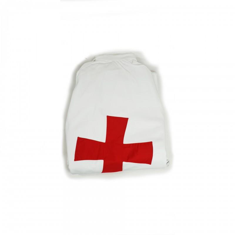 Manteau blanc GPRF, croix C.B.C.S. appliquée