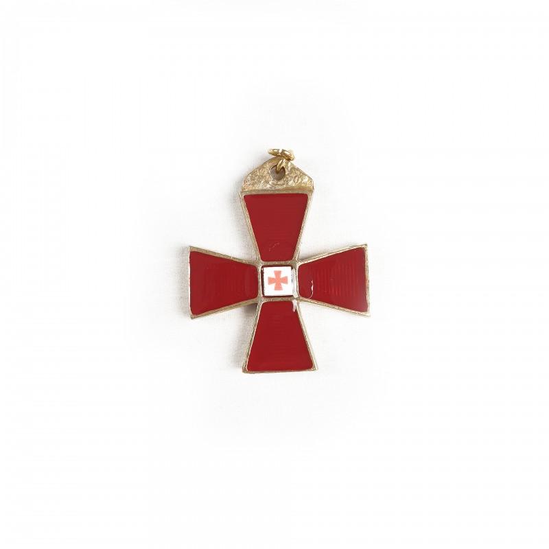 Croix pectorale Dignitaire C.B.C.S., bronze doré émaillé ponceau