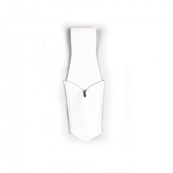 Passant porte-épée cuir blanc