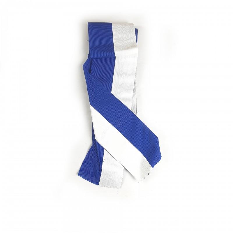 Echarpe/baudrier Sergent d'Arme O.B.R.ERIN, ruban 100mm bleu/blanc