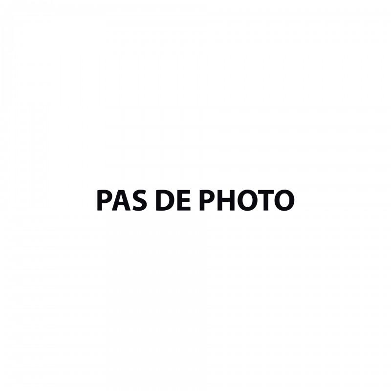 Tablier V.M. RFM, rectangle, satin, ruban bleu pâle, bavette brodée Delta & G /Gloire