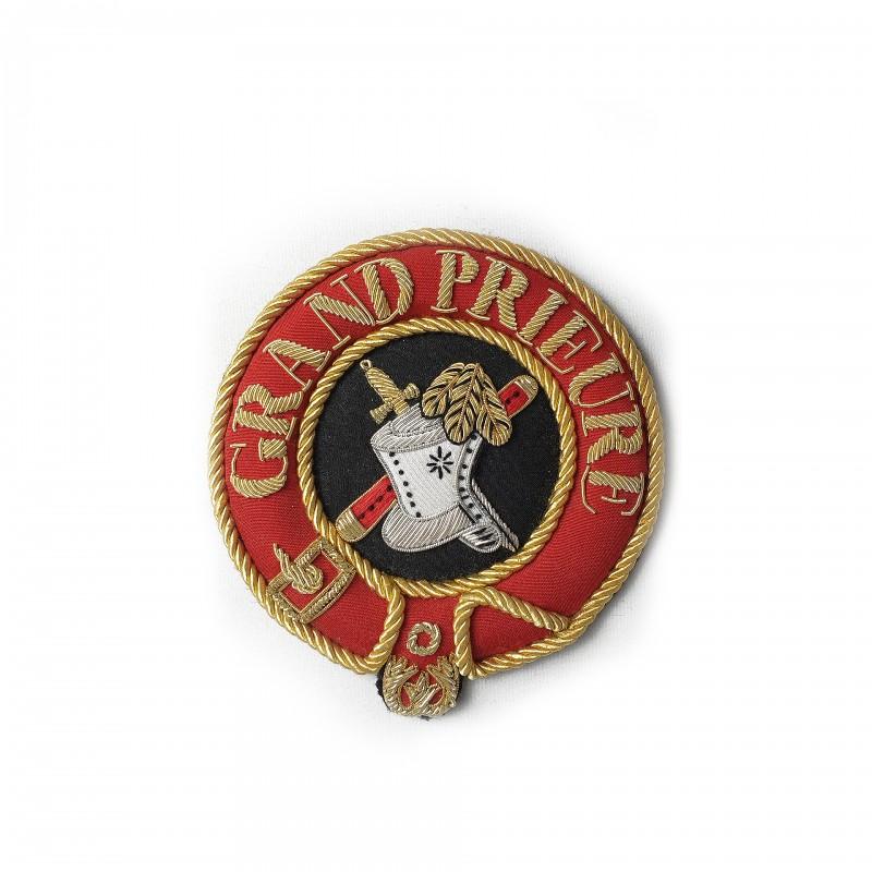 Badge de manteau Grand Officier MALTE, ottoman, texte / emblème fonction brodé main