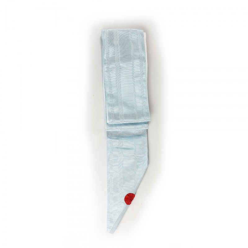 Cordon RFM de reconnaissance conjugale, moire bleue pâle 110mm ( 2 m ) doublé