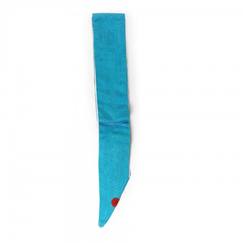 Cordon RF de reconnaissance conjugale, moire turquoise 110mm ( 2 m ) doublé
