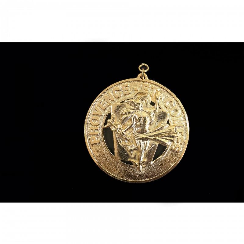 Bijou de collier Officier Prov. ACTIF MARQUE, bronze doré
