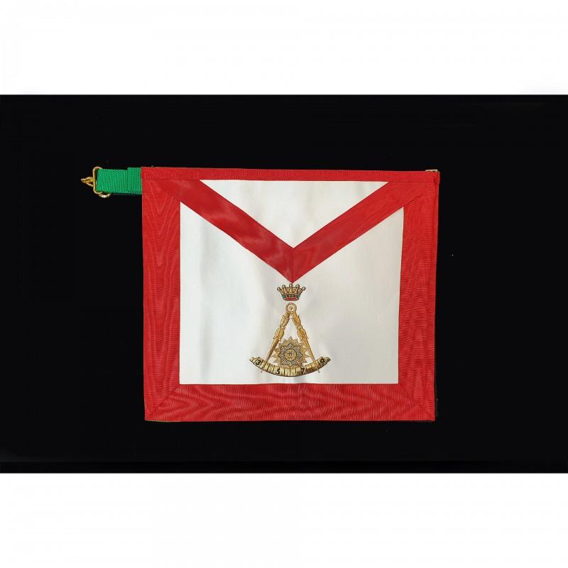 Tablier II°/III° Ordres GCGF, rectangle, satin, biface