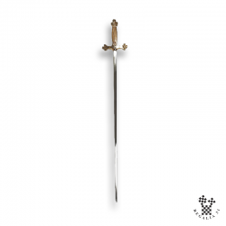 Épée garde tréflée bronze poli