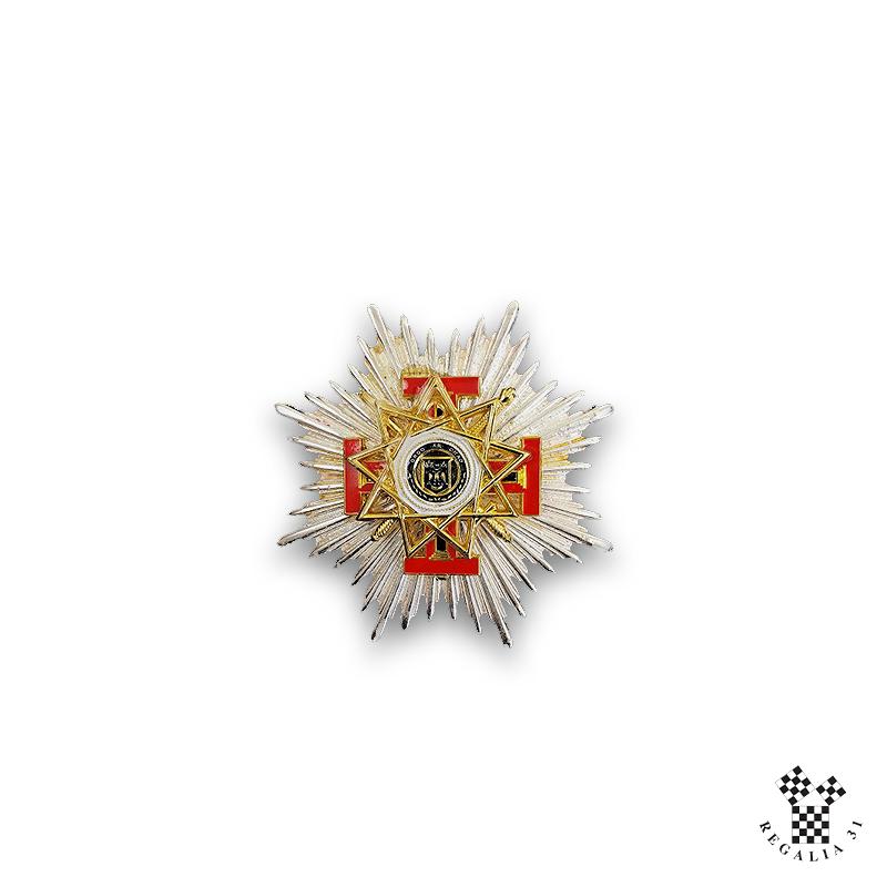 Plaque de T.P.S.G.C. 33° REAA « GRANDE DECORATION » sur plaque argentée
