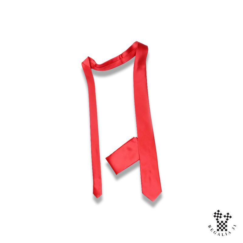Rouge unie (ARA) Cravate polyester,