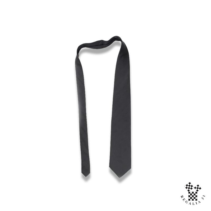 Cravate polyester, noire unie