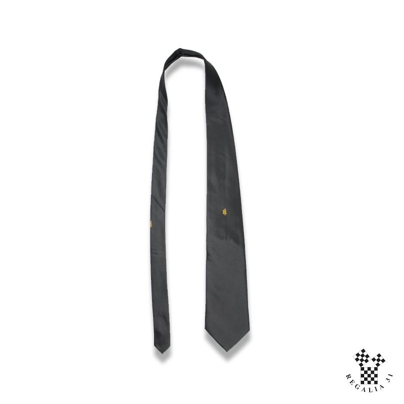 Acacia jaune-or,Cravate polyester, noire, motif tissé