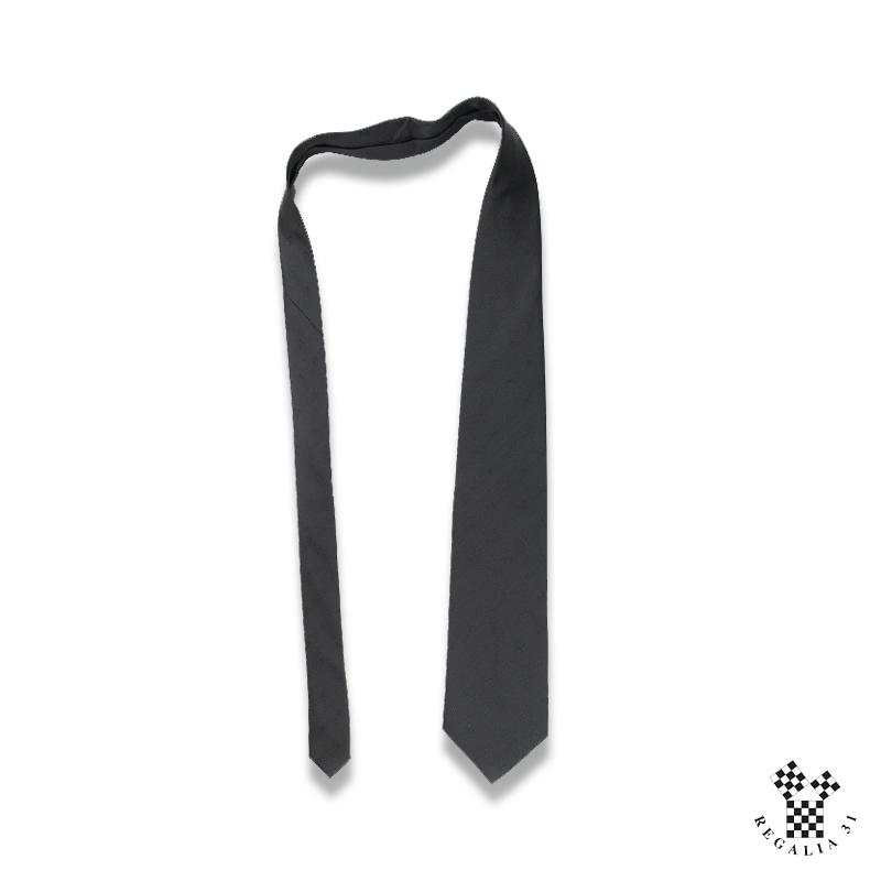 Équerres & Compas multiple, ton sur ton dans la trame,Cravate polyester, noire, motif tissé