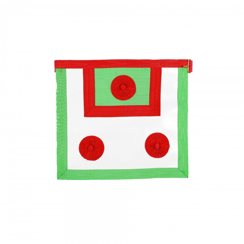 Tablier M.E.S.A., (36 x 40) Peau, 3 cocardes rouges