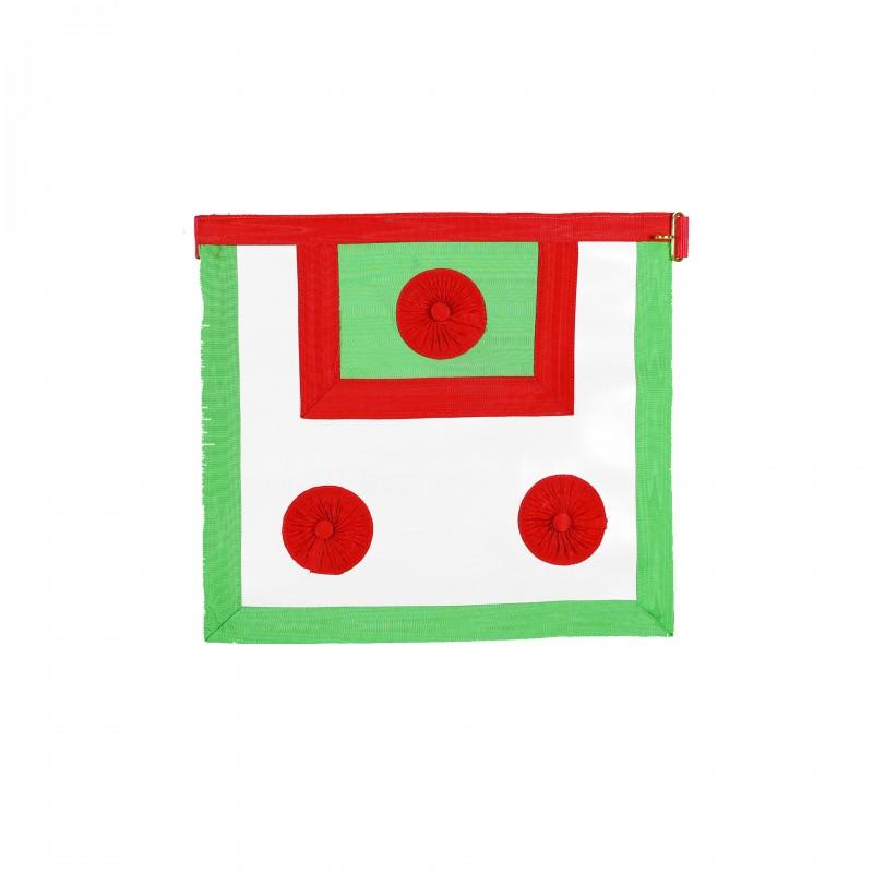 Tablier M.E.S.A., (36 x 40) simili, 3 cocardes rouges