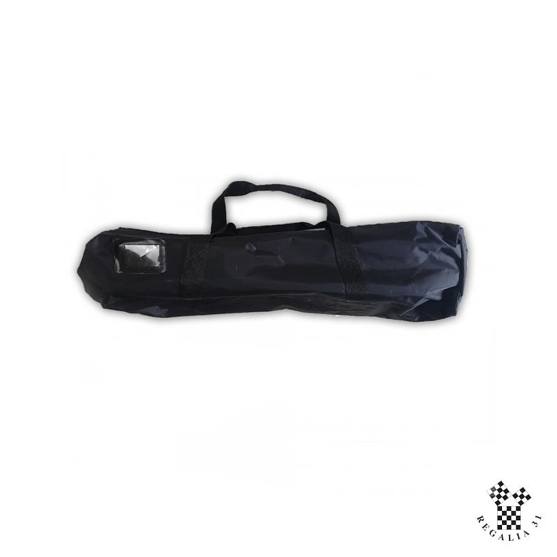 Porte-décors souple noir TEMPLE (90 x 25 x  25 cm ), 2 poches intérieures, fermeture-éclair