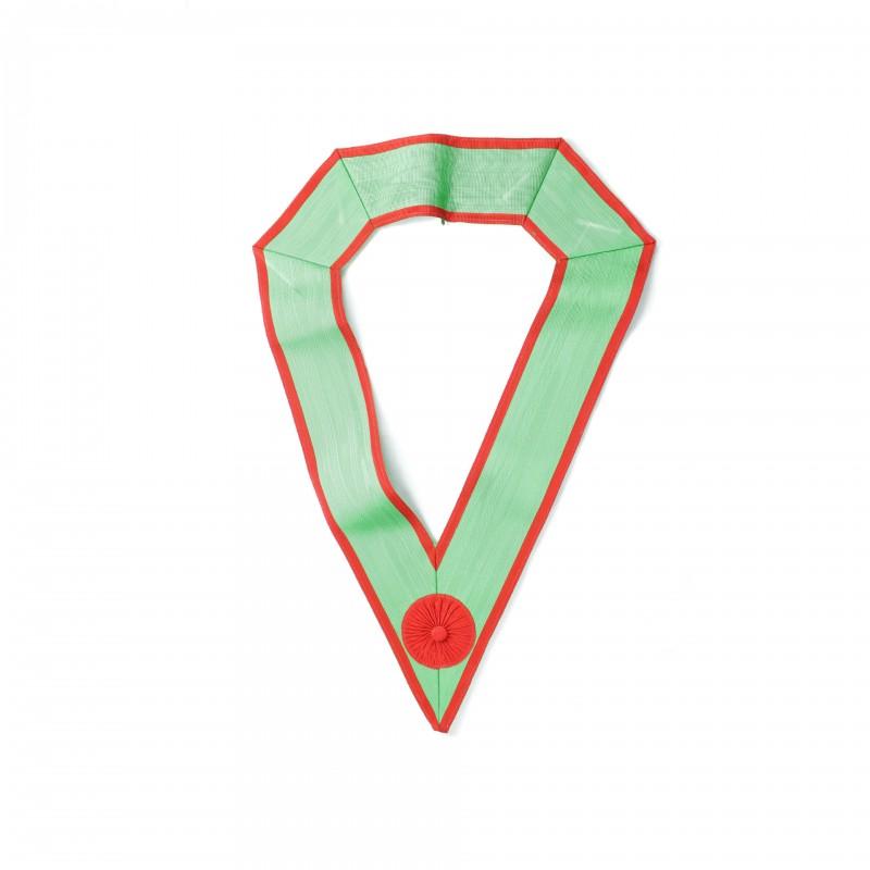 Sautoir M.E.S.A., moire 80 mm., cocarde rouge