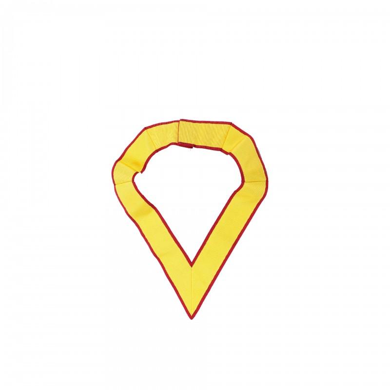 Collerette de Grand Officier MONITEUR, gros grain, cramoisi/jaune