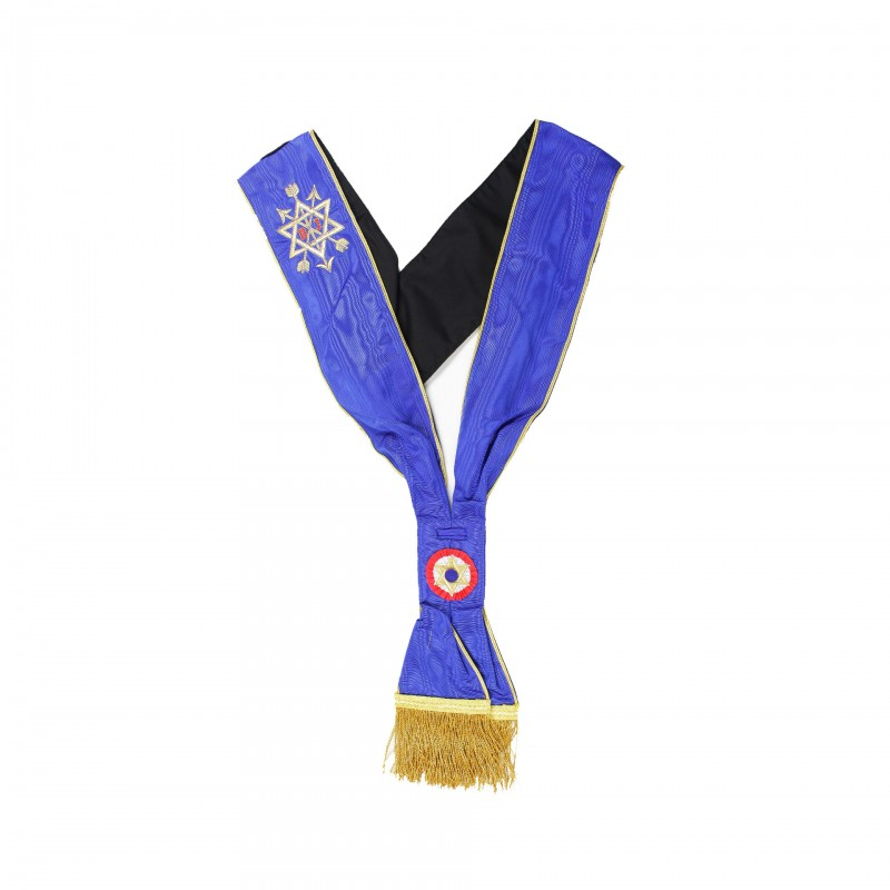 Echarpe Officier (niveau Provincial) MONITEUR, bleu roi