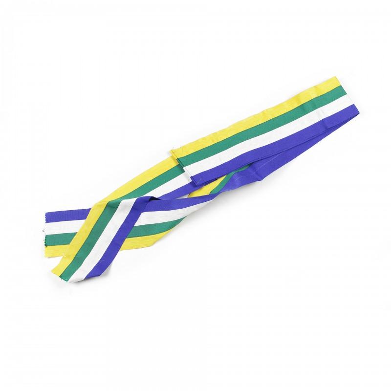 Echarpe/baudrier Chevalier O.B.R.ERIN, ruban 100mm bleu/blanc/vert/jaune