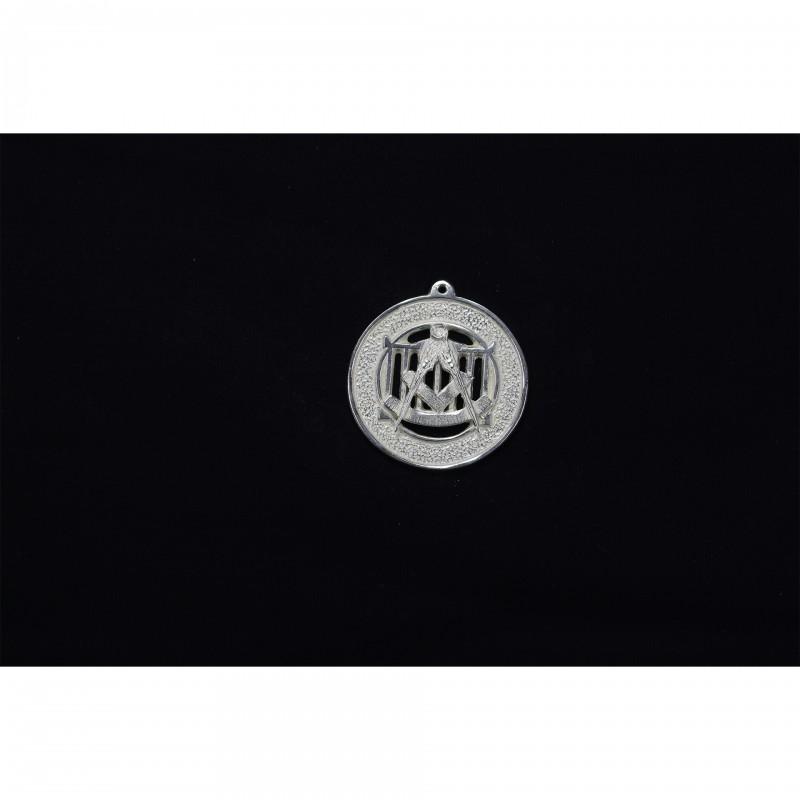 Bijou de Collier P.Souv.M. ALLIÉS, emblème sur gril, bronze argenté
