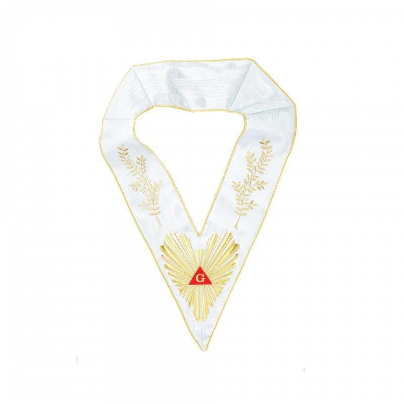 Sautoir de V.M./An.V.M., RFM, comme 1E22404 + broderie acacia 112-feuilles