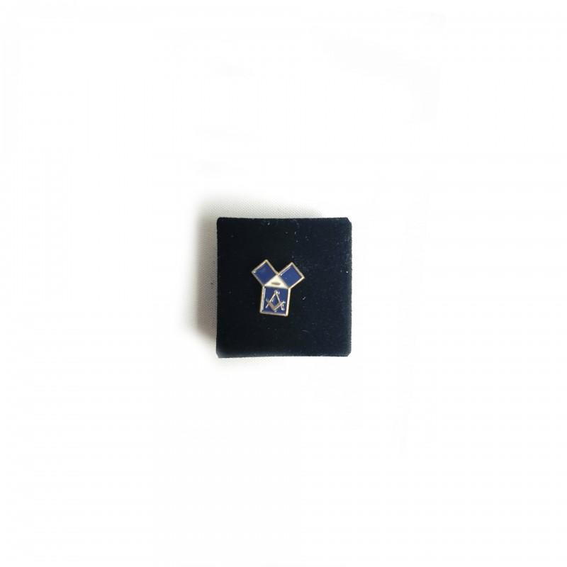 Épinglette PM Pythagore avec oeil, émail bleu cloisonné / métal doré