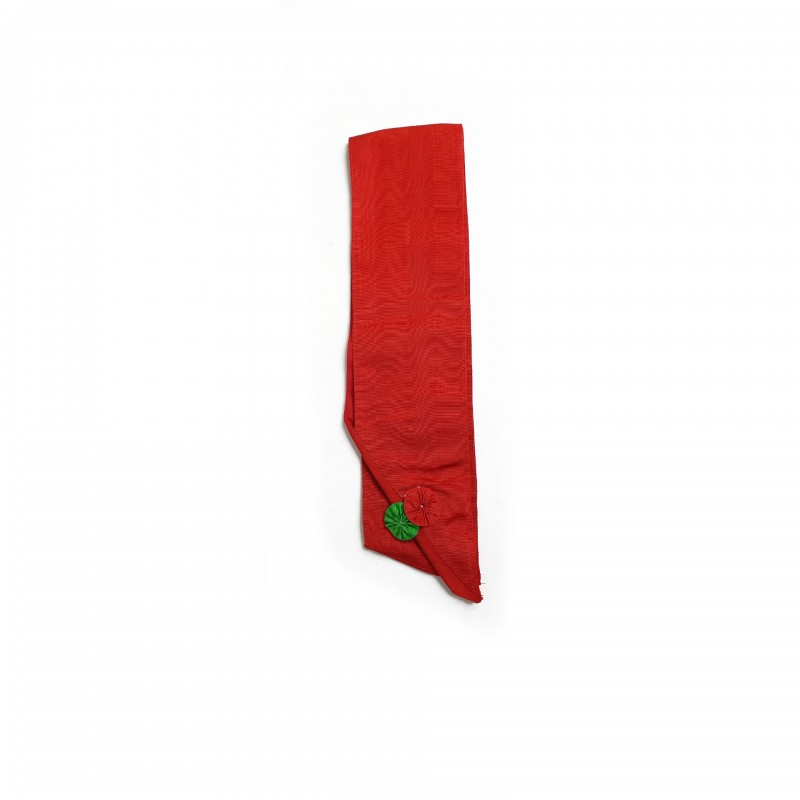 Cordon II°/III° Ordres, biface : rouge uni, cocarde rouge + doublé rouge cocarde verte