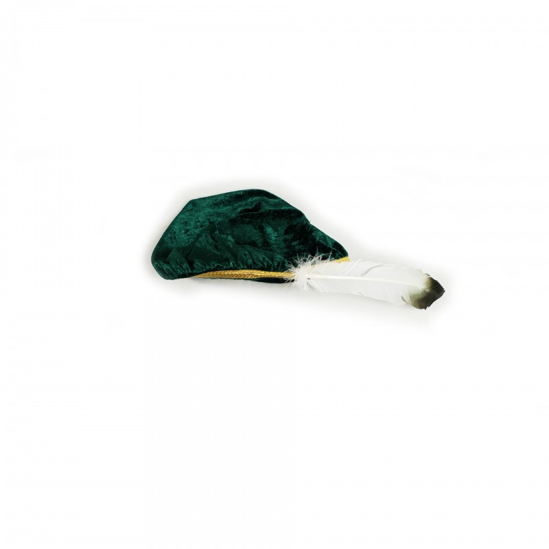 Béret Chevalier O.B.R.ERIN, velours vert, galon doré