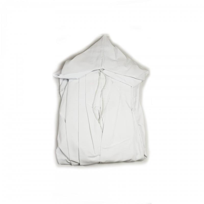 Manteau CTPSAR, sergé blanc, cordelière et capuchon, non doublée, sans emblème