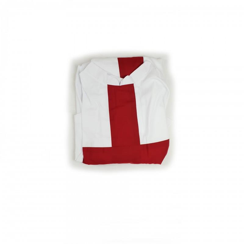 Tunique CTPSAR, sergé blanc, croix bordeaux