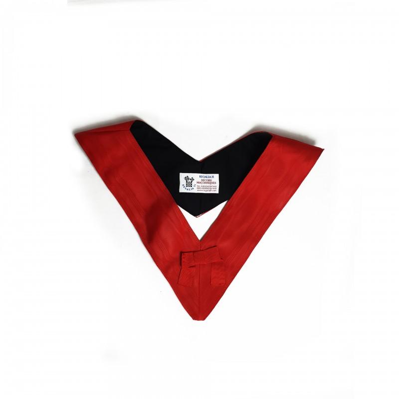Collerette / Sautoir Ecuyer Nov., moire rouge 80 mm