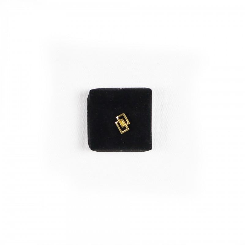 Épinglette Loges, double rectangle, métal doré