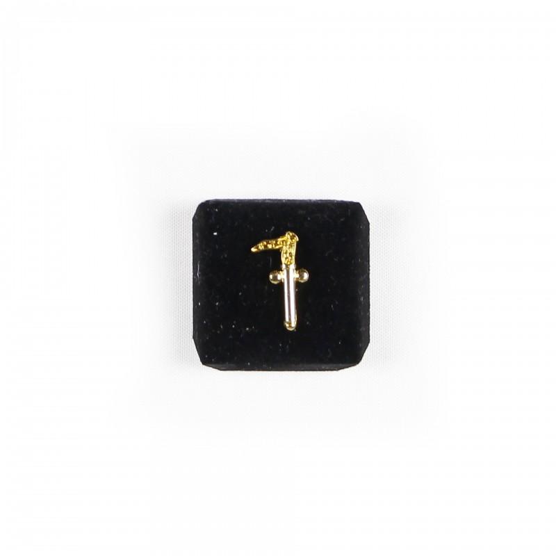 Épinglette Two Balls Cane (T.B.C.), métal doré